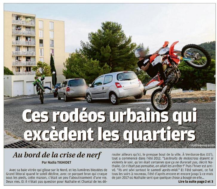 Article LaProvence 24-07-2017 Rodéo en ville page 01