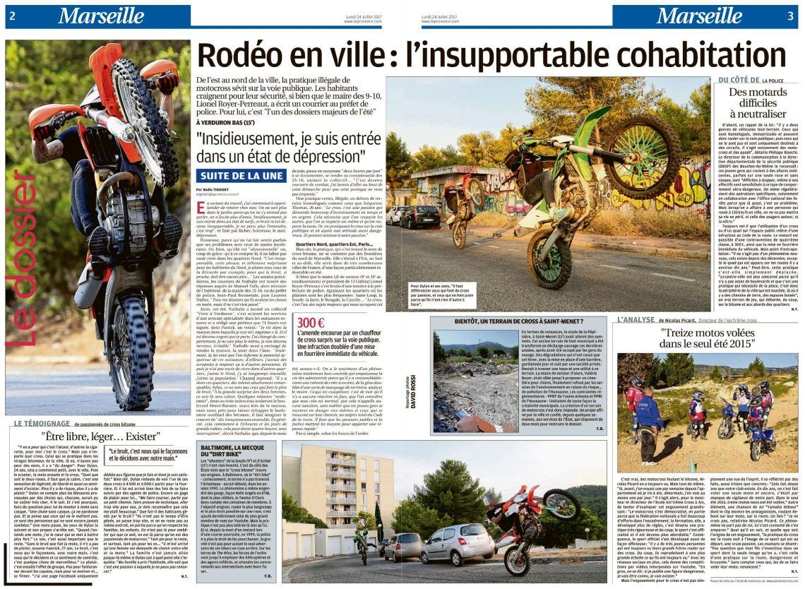 Article LaProvence 24-07-2017 Rodéo en ville page 02-03