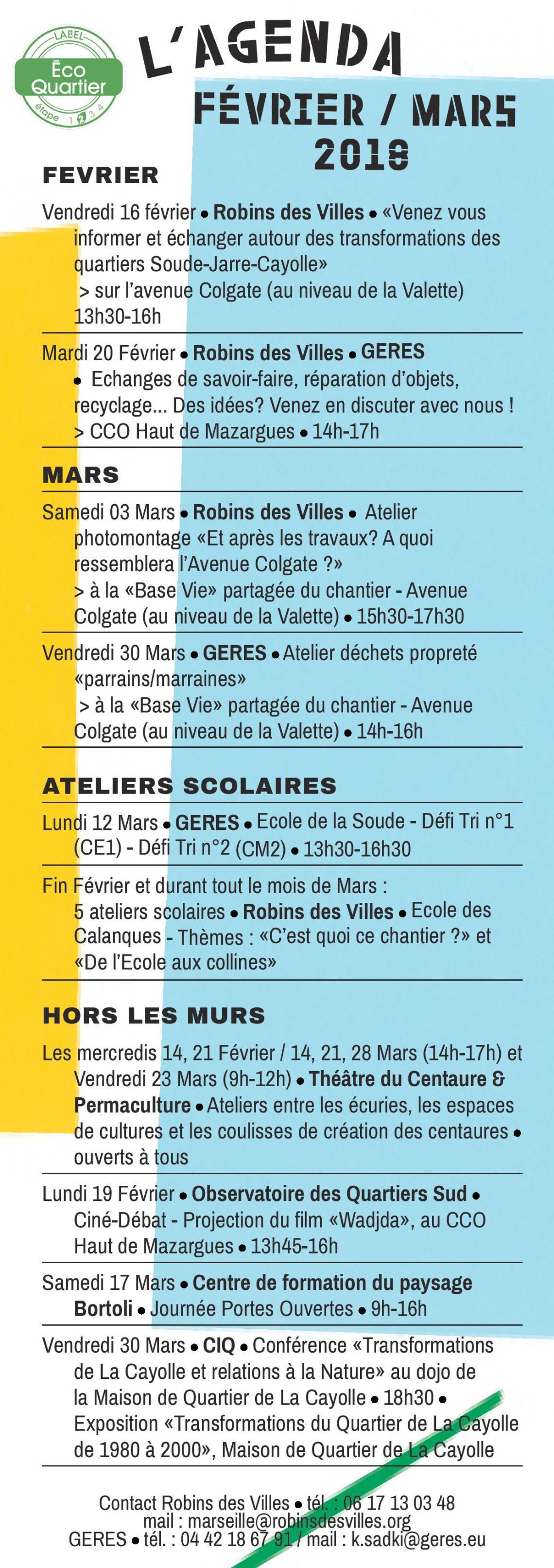 Agenda février-mars- Robins des Villes-GERES (1)