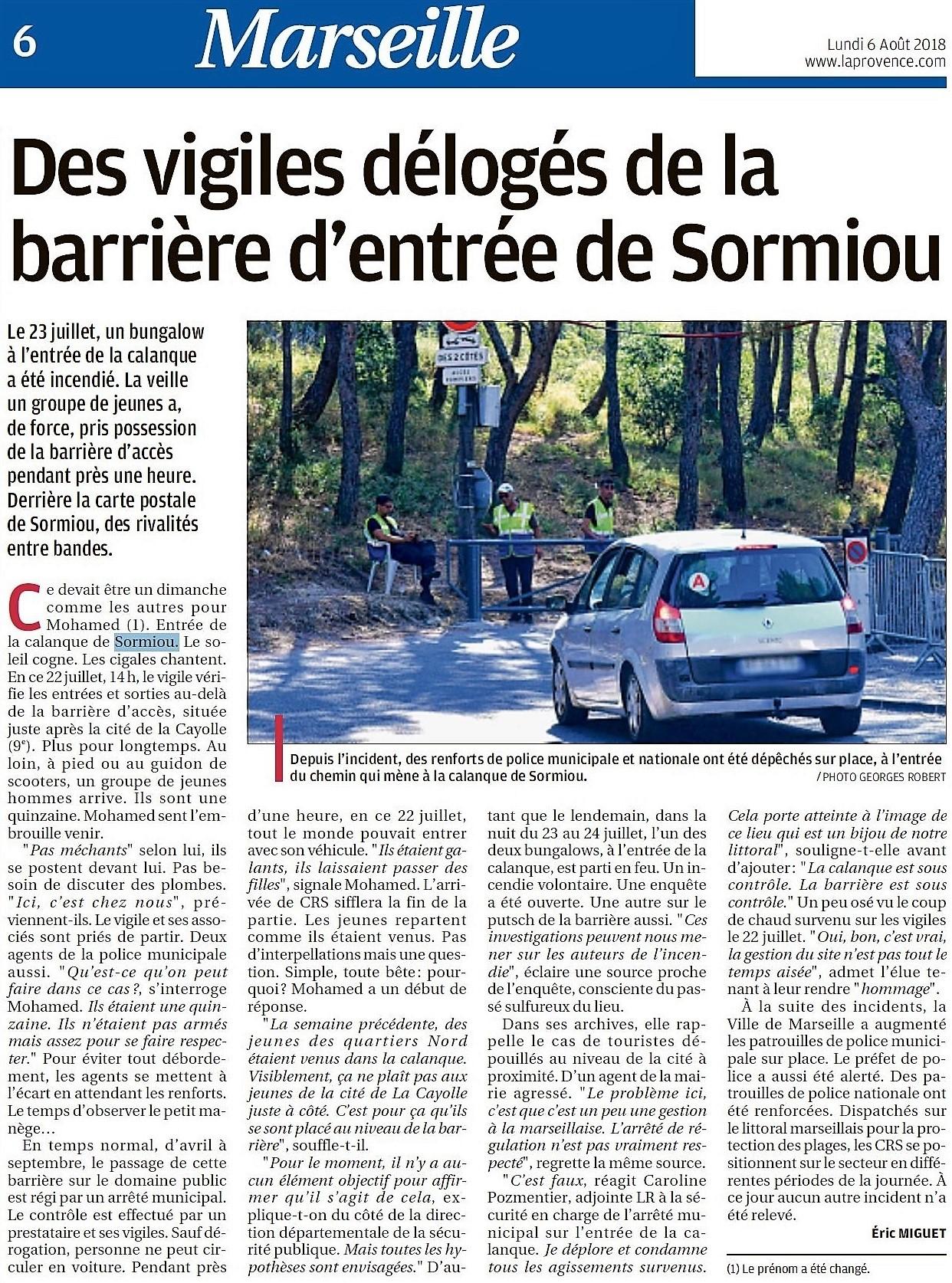 Article LaProvence 2018-08-06 barrière de Sormiou p-06
