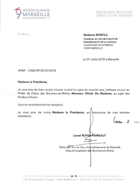 Lettre LRP Ciq Nuisances sonores 27.07.18